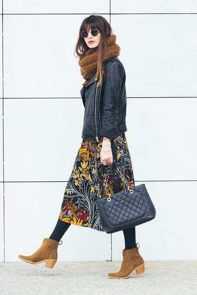 black Zara dress - black Zara jacket