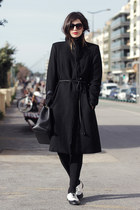 Hugo Boss coat - Chanel bag - Zara sunglasses - Topshop loafers