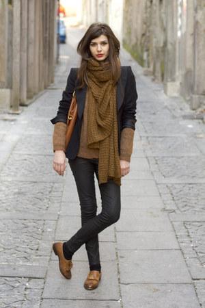 Zara leggings - Prada bag - Topshop loafers