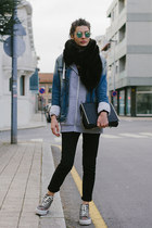 blue denim Zara Man jacket