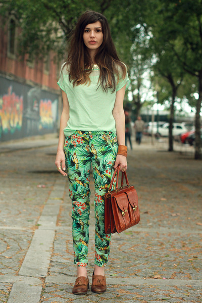 vintage bag - Zara pants - Topshop loafers - H&M necklace