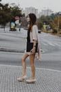 Peach-asos-shoes-peach-h-m-dress-black-saako-scarf-black-zara-bag