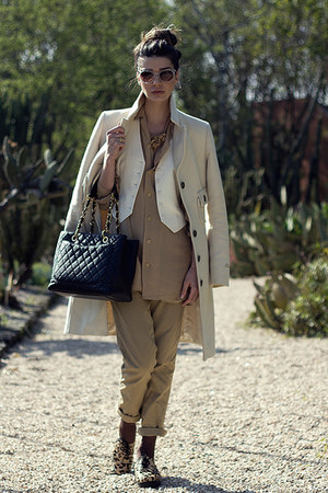 H&M vest - Deena & Ozzy shoes - Miss Sixty coat - Chanel bag - vintage blouse