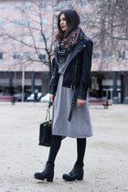 silver Stefanel dress - black Zara jacket