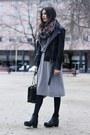 Silver-stefanel-dress-black-zara-jacket
