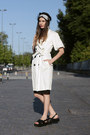 White-mango-coat-black-zara-skirt-black-zara-sandals