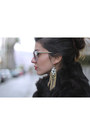 Vintage-coat-vintage-scarf-uterque-sunglasses-topshop-loafers