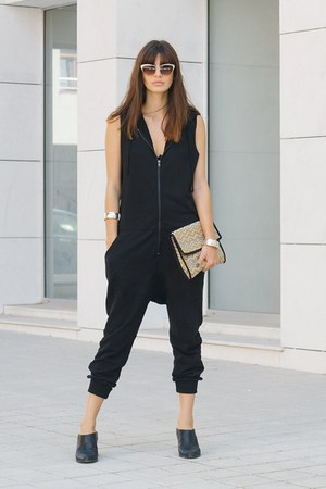 black H&M vest - black & other stories sandals