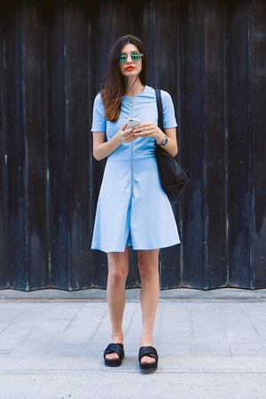 light blue & other stories dress