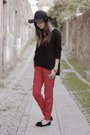 Uterque-hat-zara-jumper-zara-pants-zara-loafers