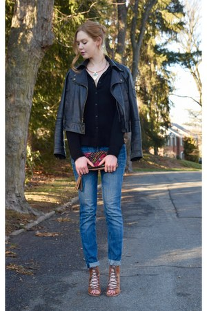 jeans cuffed madewell jeans - leather black Guess jacket