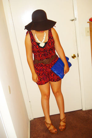 Forever 21 necklace - Charlotte Russe hat - Cathy Jean shoes