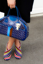 united nude boots - blue customized goyard bag - black Marc by Marc Jacobs skirt