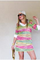 vintage scarf - mustard knit dress Missoni dress - vintage clutch vintage purse