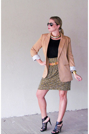 black stuart weitzman sandals - camel one button Forever 21 blazer