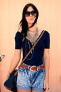 American-apparel-blouse-vintage-belt-vintage-shorts-vintage-purse-swap-m