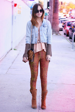 snakeskin print Betsey Johnson pants