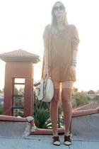 vintage boots - vintage shirt - knit bloomers vintage shorts