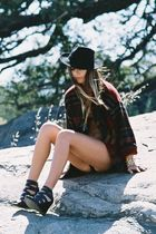 vintage jacket - Aldo shoes - vintage hat - Rodarte for Target suit
