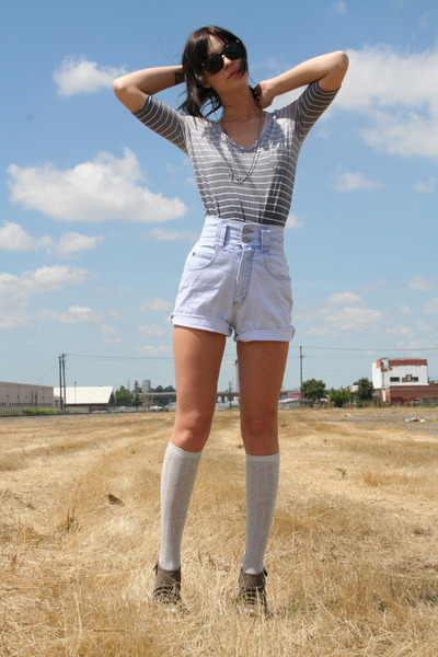afe1b0fa66 Anthropologie blouse - Target socks - deena and ozzy shoes - vintage shorts