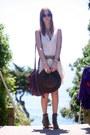 Forever-21-boots-silk-garment-district-dress-vintage-hat-vintage-belt
