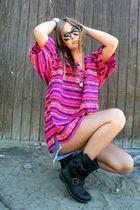 vintage blouse - Jeffrey Campbell boots