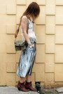 Vintage-boots-army-vintage-bag-metallic-silver-vintage-skirt-open-knit-pop