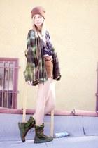 Palladium boots - diy hemmed vintage shorts - harley davidson vintage t-shirt