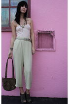 vintage top - vintage pants - vintage purse - deena and ozzy shoes - vintage nec
