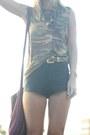 Velvet-vintage-boots-camo-vintage-shirt-black-disco-american-apparel-shorts