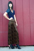vintage skirt - American Apparel blouse