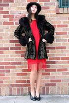 vintage dress - vintage coat - vintage shoes