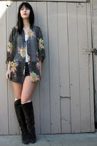 vintage blouse - Chinese Laundry boots