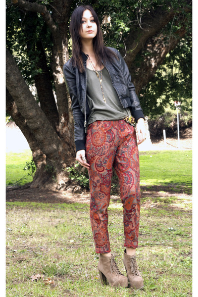 vintage pants - Jeffrey Campbell shoes