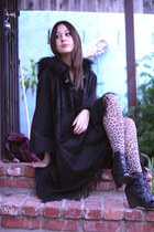 hooded cape Zara cardigan - leopard Zara tights