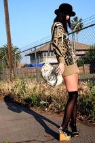 Vintage Escada sweater - Target socks - vintage purse