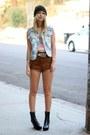 Vagabond-boots-tunnel-vision-shirt-vintage-shorts
