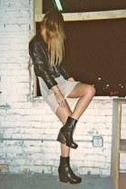 platform vagabond boots - mesh Isabel Marant dress