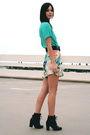 Vintage-blouse-vintage-skirt-black-nine-west-boots