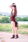 Western-ankle-vintage-boots-vintage-bag-lace-up-vintage-shorts-vintage-top