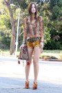 Fabric-diy-boots-crushed-velvet-vintage-shorts-sheer-vintage-blouse