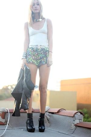 Wasteland boots - diy cut off bb dakota pants shorts - Wasteland necklace