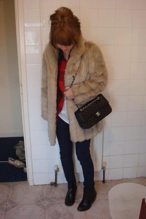 Topshop shirt - Topshop jeans - vintage coat