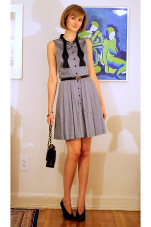 Francis dress - ferragamo belt - Chanel purse - maison martin margiela shoes - H