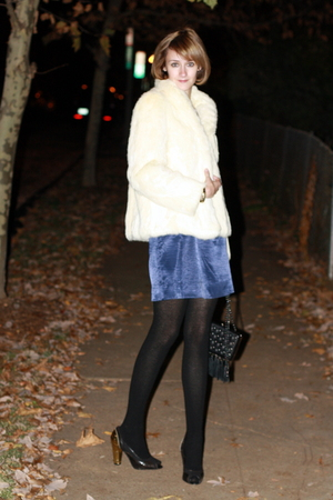 vintage coat - jonathan saunders for target dress - H&amp;M tights - PROENZA SCHOULE