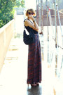 Maroon-palazzo-forever-21-pants-black-studded-bag-kmrii-bag