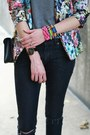 Black-diy-distressed-h-m-jeans-hot-pink-floral-zara-blazer