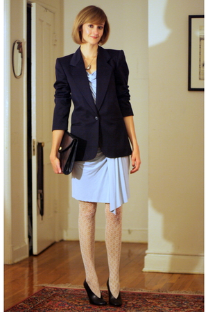 Foley and Corinna dress - vintage blazer - H&amp;M tights - maison martin margiela s