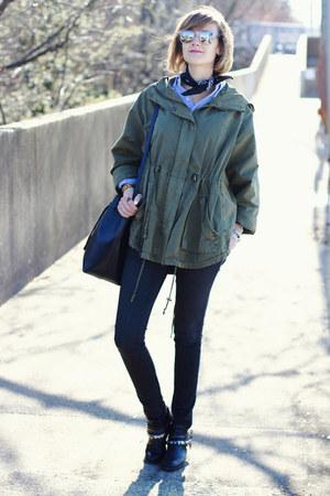 black motorcycle Freda Salvador boots - black skinny jeans dl1961 jeans