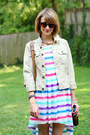 Hot-pink-striped-rare-dress-lime-green-jean-jacket-7-for-all-mankind-jacket